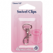 Hemline Swivel Clip - Nickel - 13mm